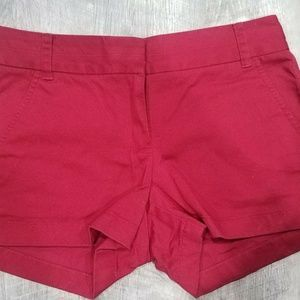 CREW Chino Shorts in Red Size 0 NEW